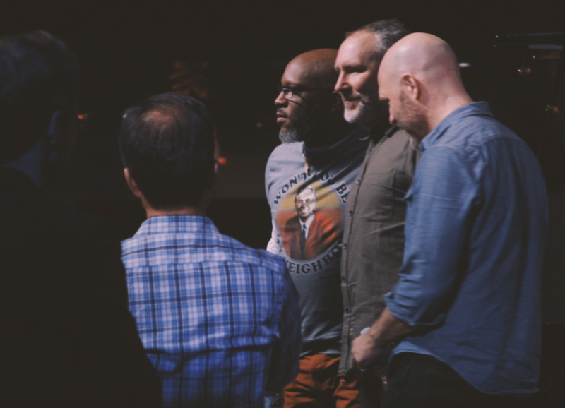Orrin Evans, Reid Anderson and David King -- the new lineup of The Bad Plus -- onstage in St. Louis, Mo.