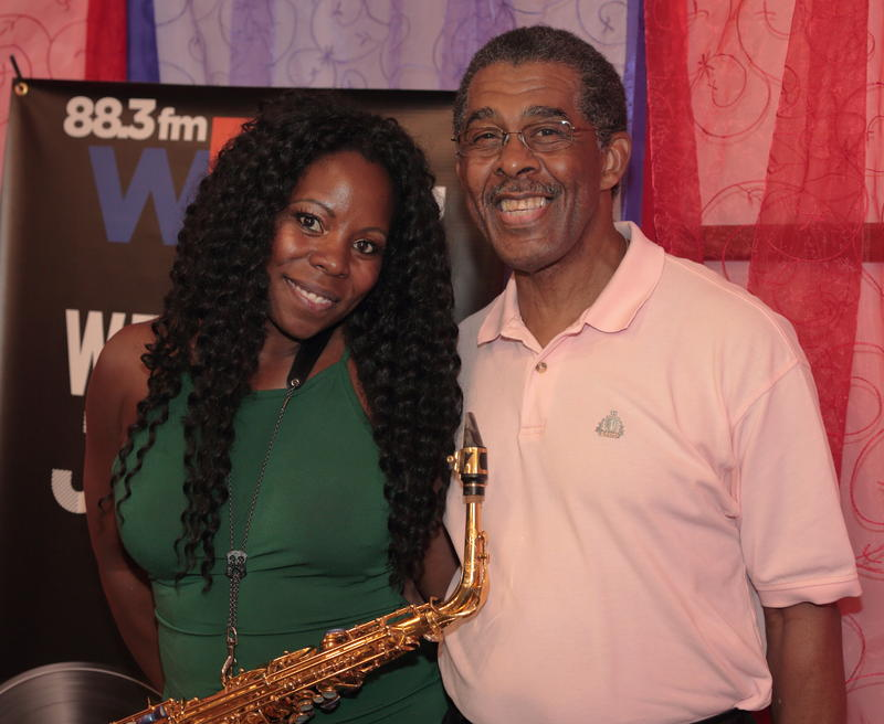 Tia Fuller with WBGO's Bill Daughtry, host of Afternoon Jazz