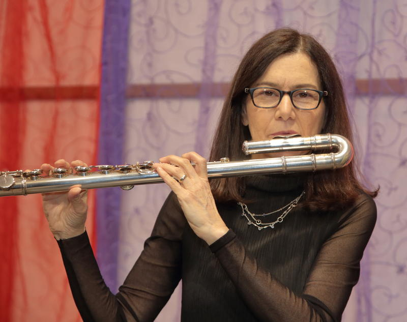 Jamie Baum playing the Alto Flute in WBGO's Performance Studio