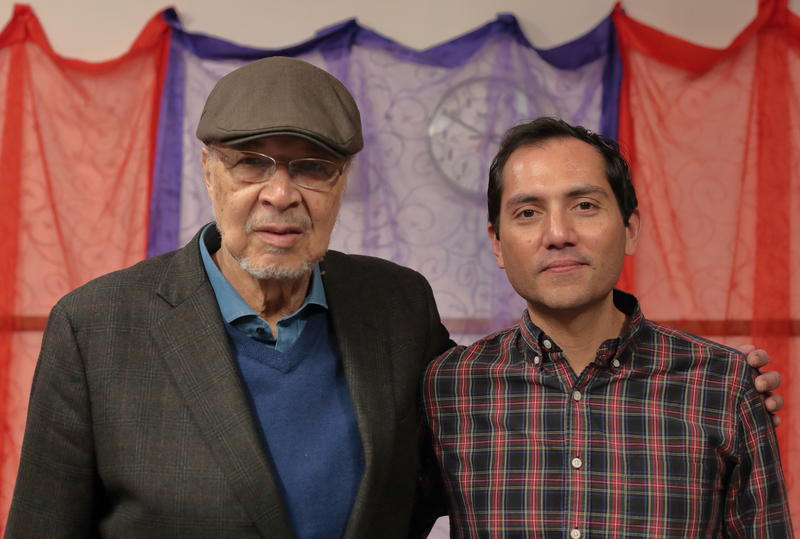 Dave Burrell with Nate Chinen, in the WBGO performance studio, April 18, 2018