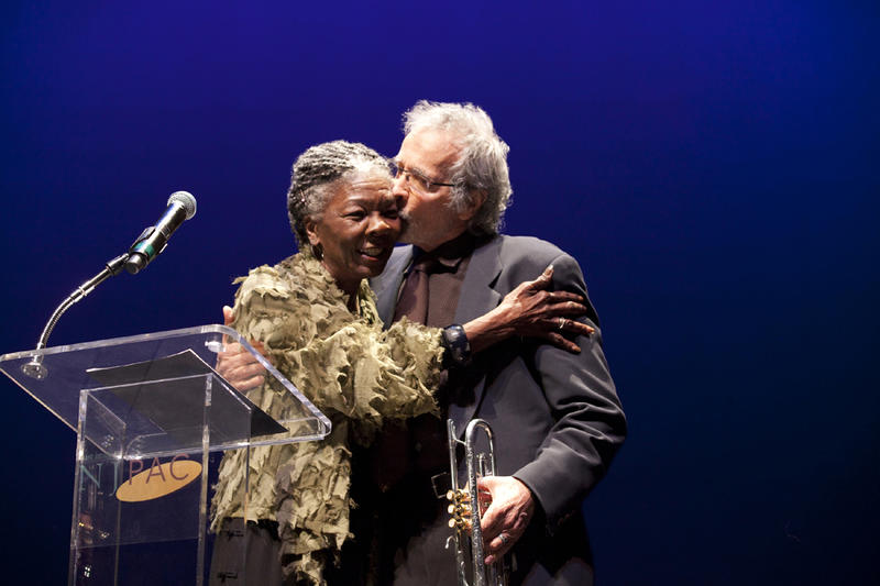 Dorthaan Kirk with trumpeter and music mogul Herb Alpert at the WBGO Champions of Jazz Gala, Oct. 10, 2010