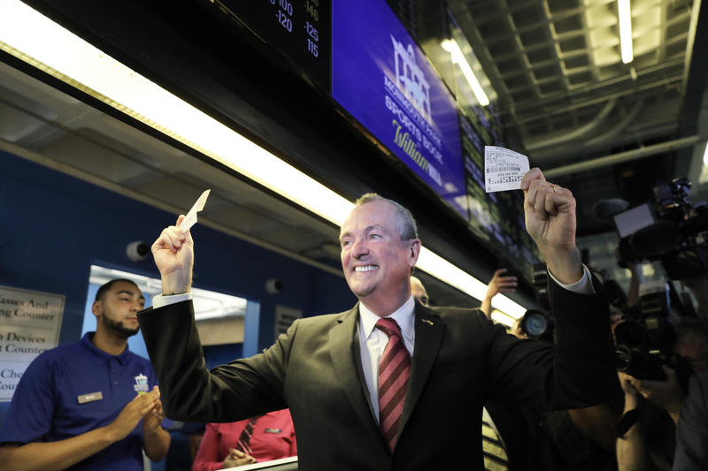 Governor Phil Murphy made the first bets at Monmouth Park
