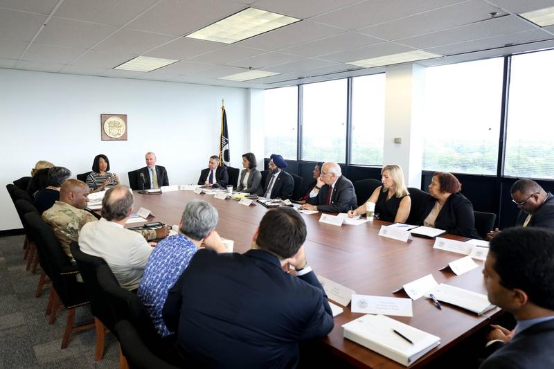 Governor Murphy discussed contingency plans with his cabinet