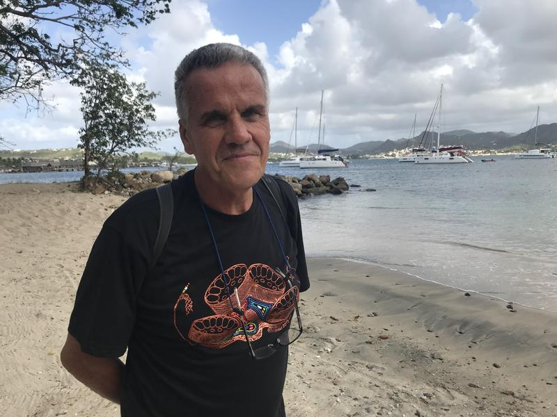 Yves Renard at Pigeon Island at the Soleil St. Lucia Summer Festival