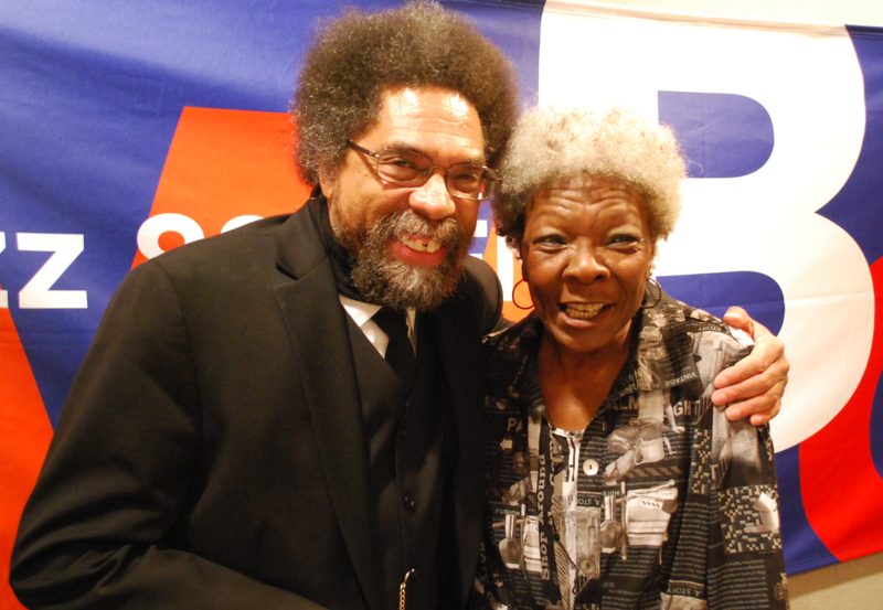 Dorthaan Kirk with Dr. Cornel West at WBGO on May 15, 2013