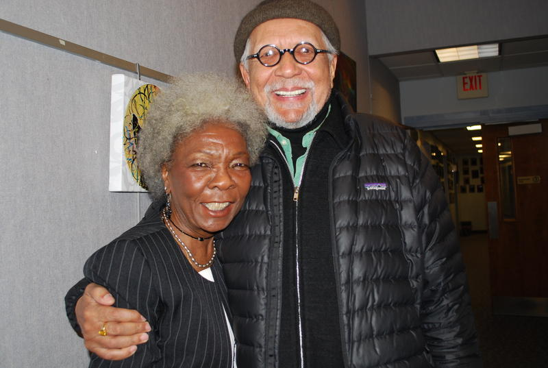Dorthaan Kirk and saxophonist Charles Lloyd at WBGO, March 13, 2013