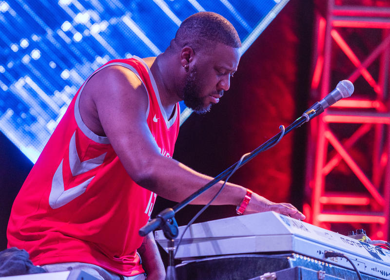 Robert Glasper performing with R R=NOW at the 2018 Soleil St. Lucia Summer Festival