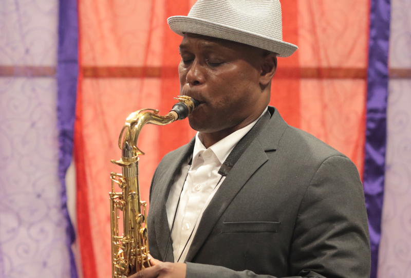 JD Allen performing on Afternoon Jazz at WBGO, on June 18, 2018