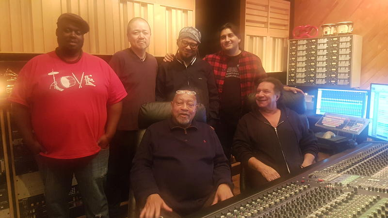Kenny Barron, seated at left, during the recording of his album 'Concentric Circles' at Systems Two