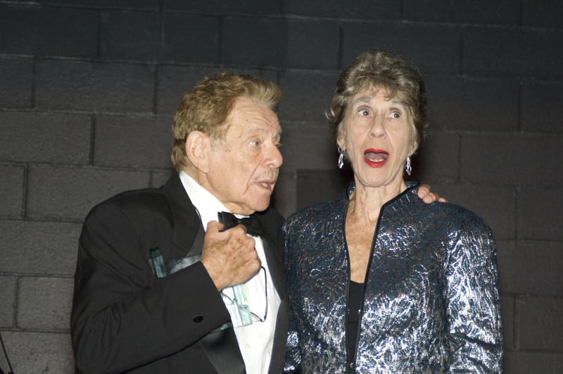 Lorraine Gordon with Jerry Stiller at the WBGO Champions of Jazz Gala on Oct. 22, 2008