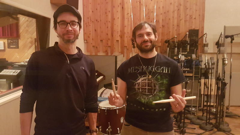 Guitarist Miles Okazaki and drummer Dan Weiss at Systems Two Recording