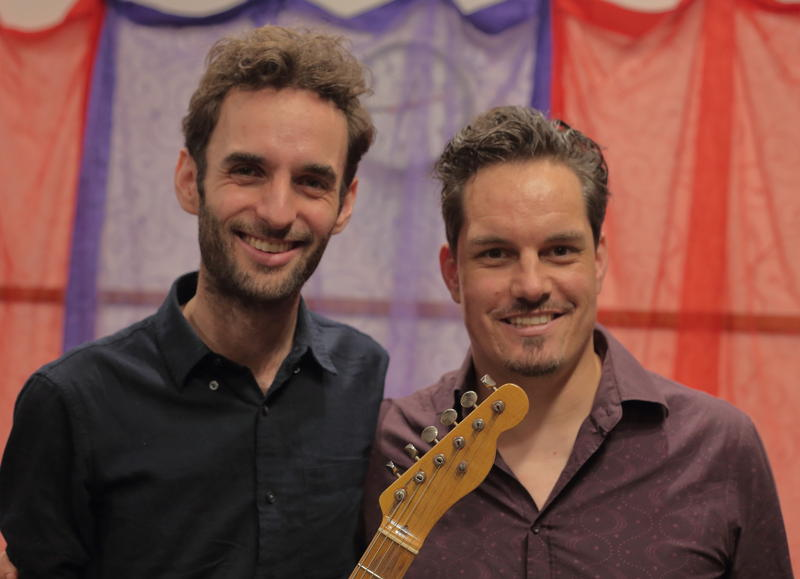 Julian Lage with WBGO's Simon Rentner