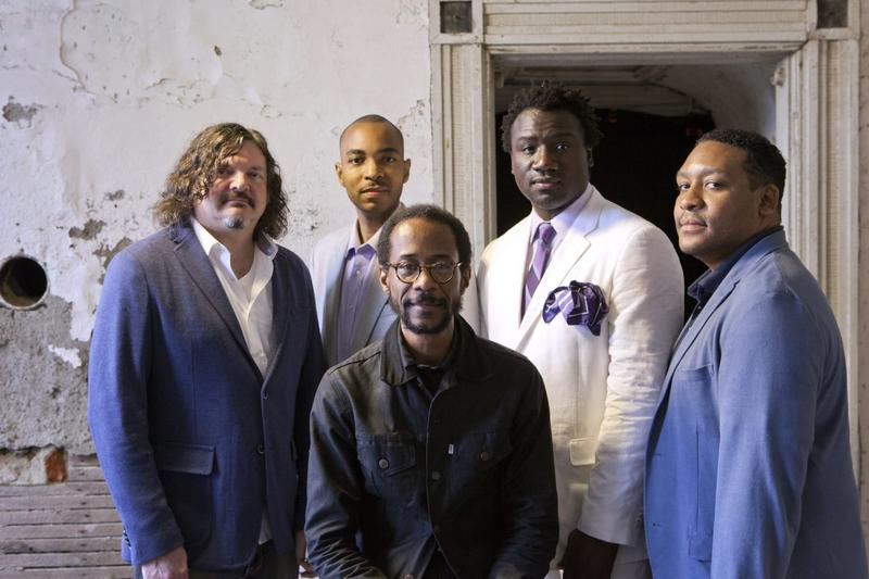 Brian Blade, seated, with The Fellowship Band