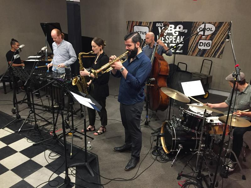 New Faces performs in the WBGO performance studio during a visit to Morning Jazz