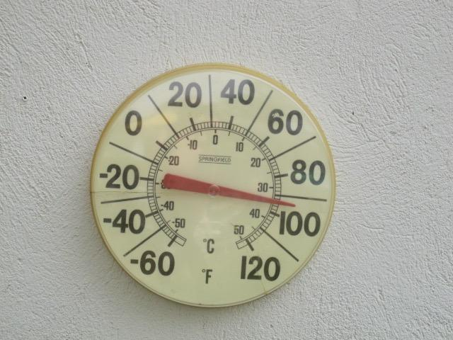 thermometer with 90+ temperature reading
