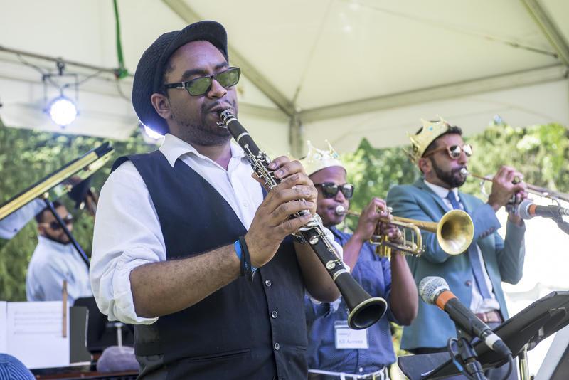 Patrick Bartley performing at the 2017 Caramoor Jazz Festival