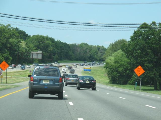 traffic on New Jersey Parkway