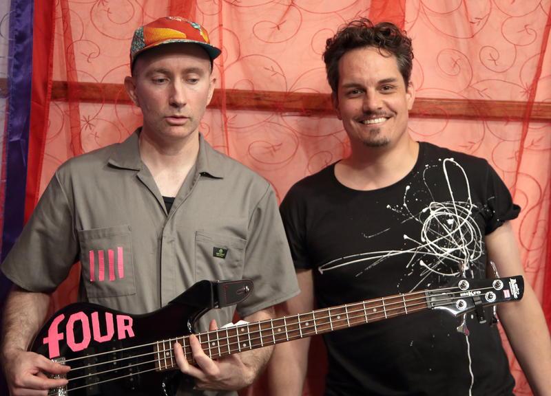 Nate Wood with WBGO's Simon Rentner