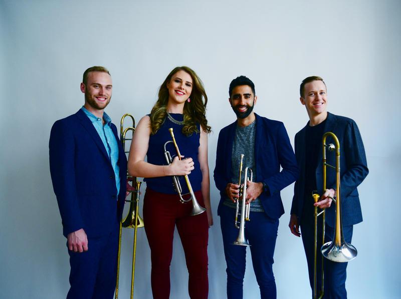 The Westerlies: Willem de Koch, Chloe Rowlands, Riley Mulherkar and Andy Clausen