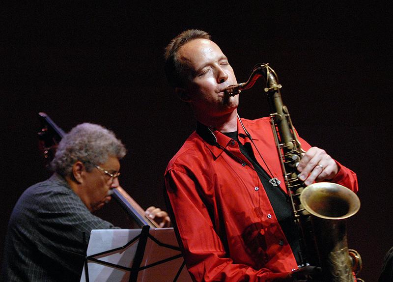 Saxophonist Ted Nash with bassist Rufus Reid