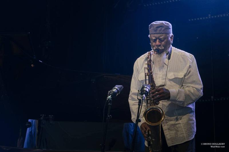 Pharoah Sanders performing at Jazz Middelheim