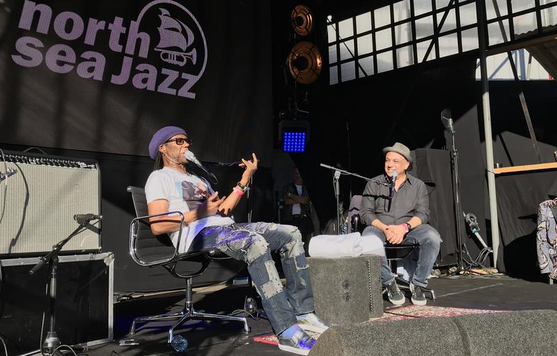 Nile Rodgers and Ashley Kahn at North Sea Jazz Festival