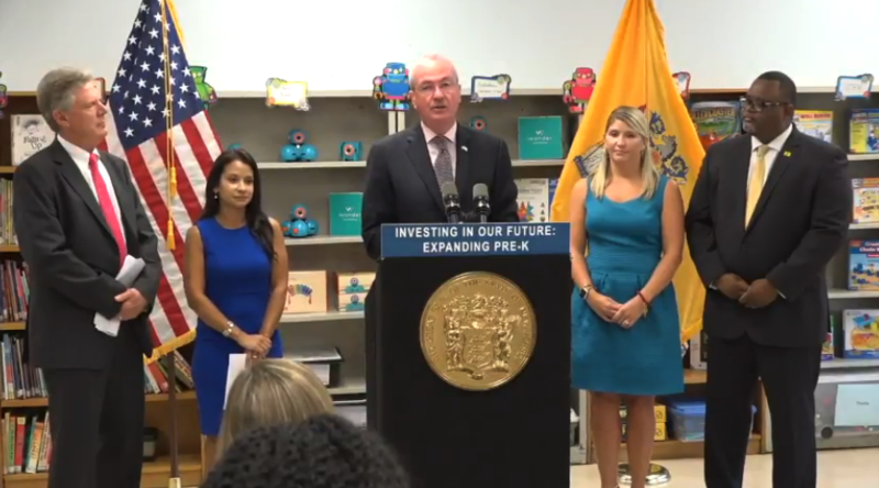Governor Murphy announces the preschool expansion aid.
