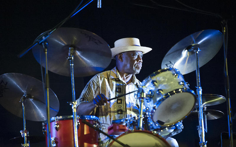Andrew Cyrille performing at the 2016 Vision Festival