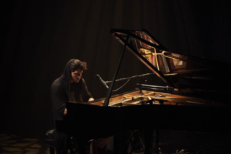 Jeremy Dutcher Performing at the Gesu for the Montreal Jazz Fest