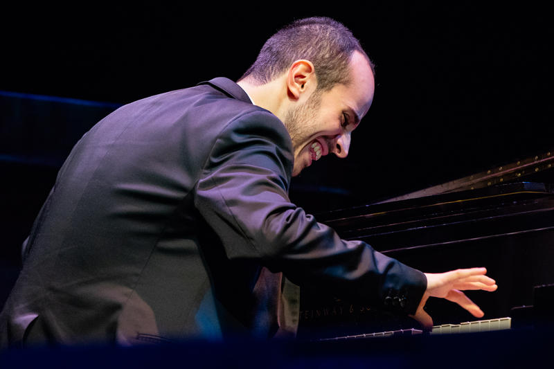 Tom Oren during the finals of the Thelonious Monk Institute of Jazz International Piano Competition, Dec. 3, 2018.