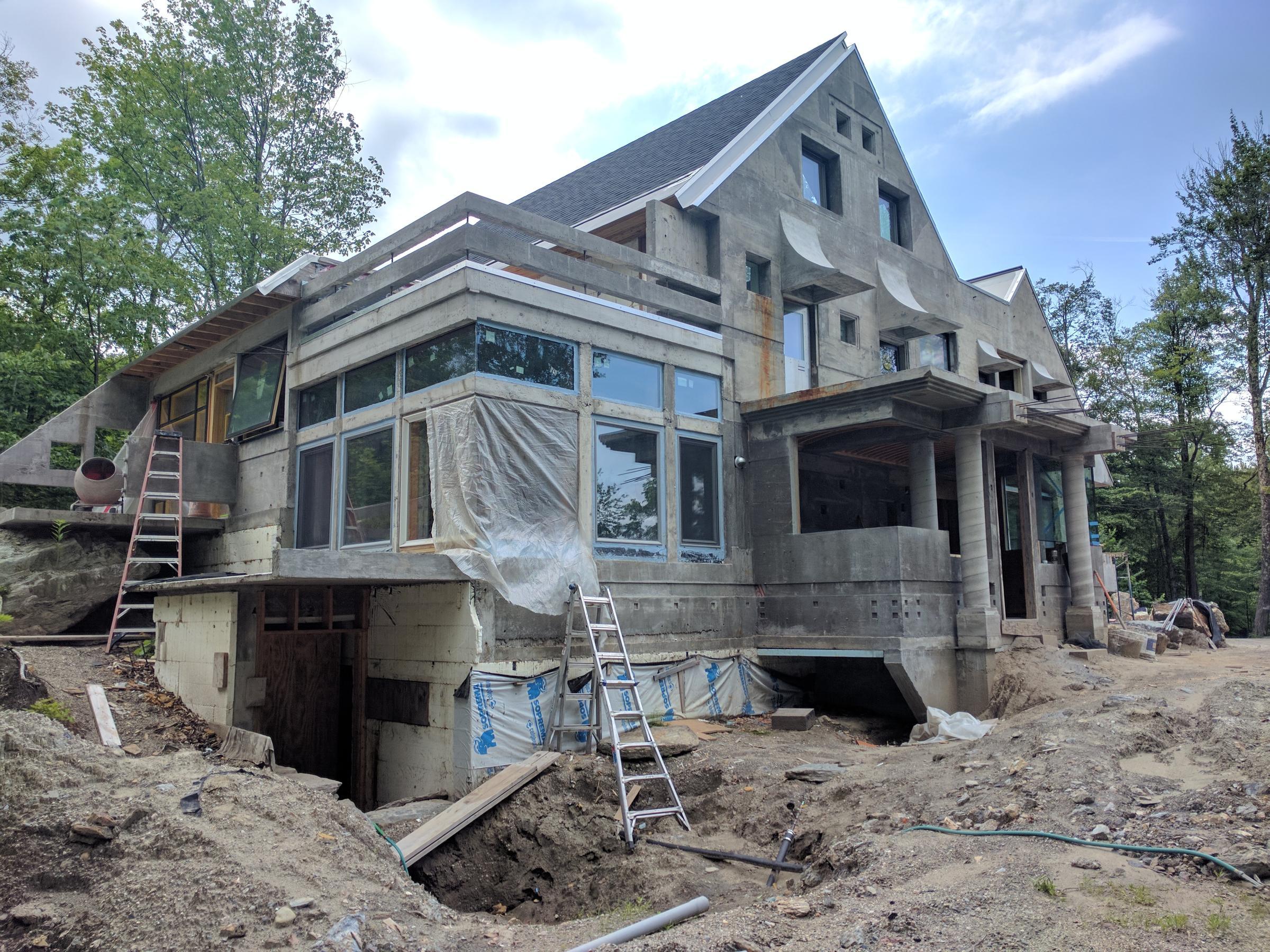 The energy efficient all concrete house wbgo for Concrete house texas