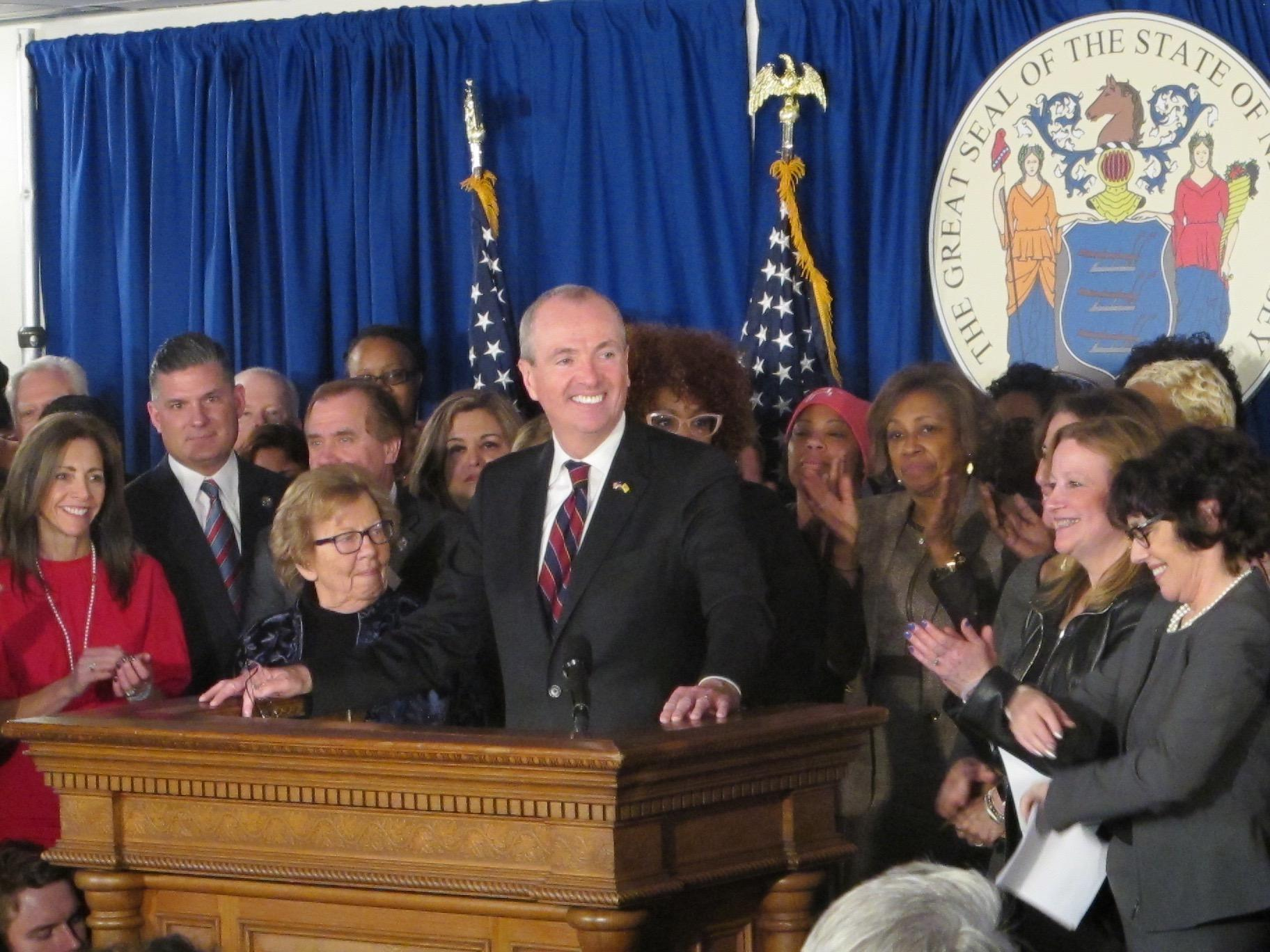 Phil Murphy Sworn In As New Jersey Governor, Attacks Trump
