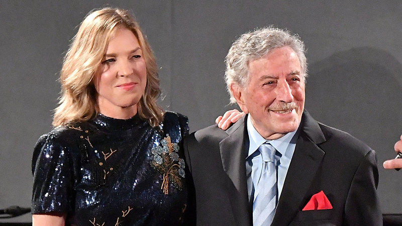 Diana Krall and Tony Bennett whose album 'Love is Here to Stay&#039 is a nominee for Best Traditional Pop Vocal Album at the 61st Grammy Awards