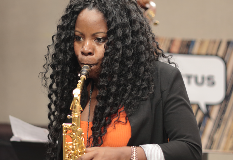 Tia Fuller a nominee for Best Jazz Instrumental Album performing at WBGO