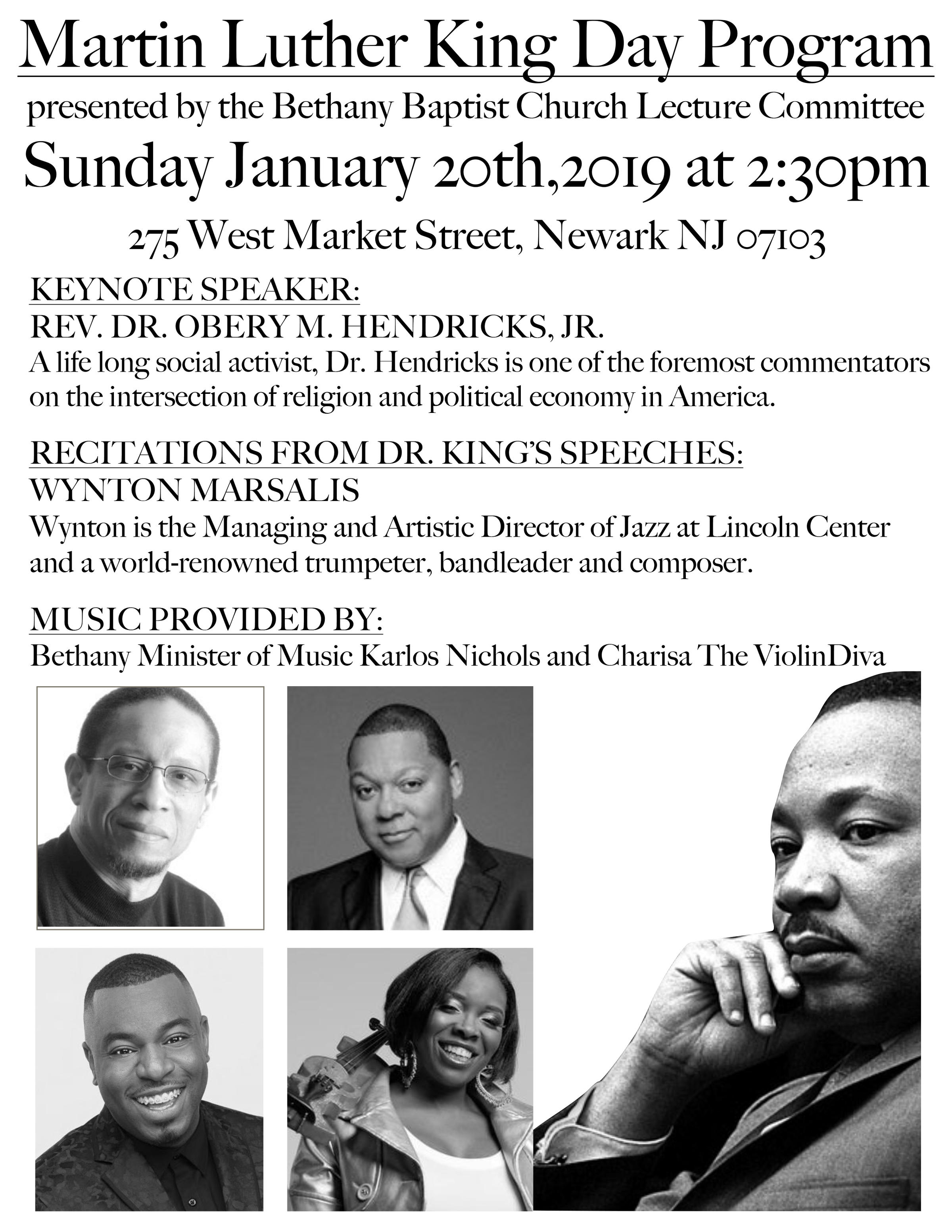 Bethany Baptist Church Celebrates Martin Luther King Jr In Words
