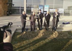 Officials break ground on Sweetwater's new facility Wednesday afternoon.