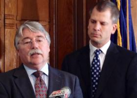 Indiana Attorney General Greg Zoeller and State Sen. Pete Miller (R-Avon) announced a proposal to put more police officers in schools.