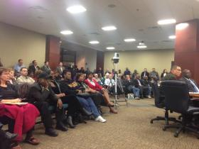 The council session garnered a large turnout of faith leaders, community leaders, and citizens.