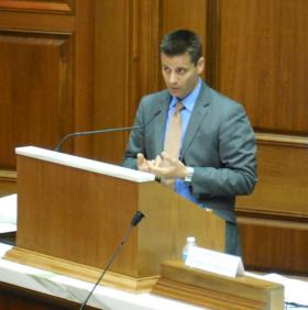 Chris Kapenga (R-WI) stirred the assembly with his comments decrying the leadership in Washington, DC.
