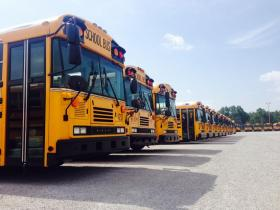 24 FWCS school buses will be retrofitted with diesel particle filters.