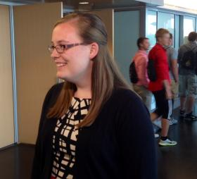 Sarah Correll, Purdue junior and member of the Commission for Higher Education.