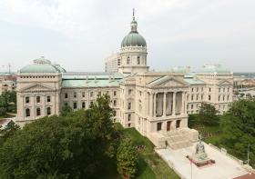 The State Capitol in Indianapolis.
