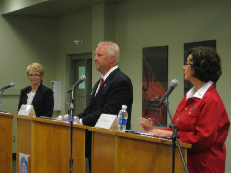 Indiana's candidates for lieutenant governor had their only scheduled debate Wednesday at the Indiana State Fair.