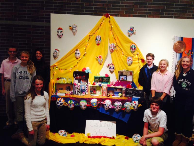 Students from Canterbury School contributed personal altars to the exhibit.