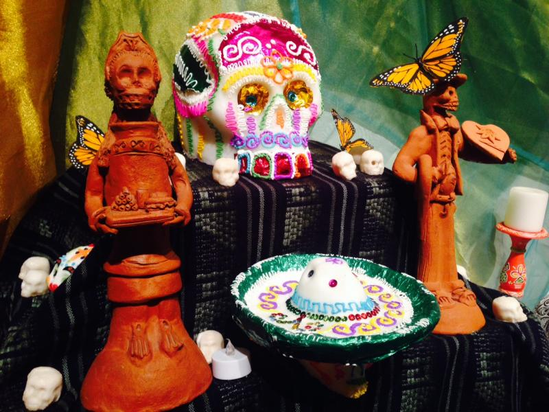 Clay sculptures from Mexico as part of Palermo Galindo's exhibit.