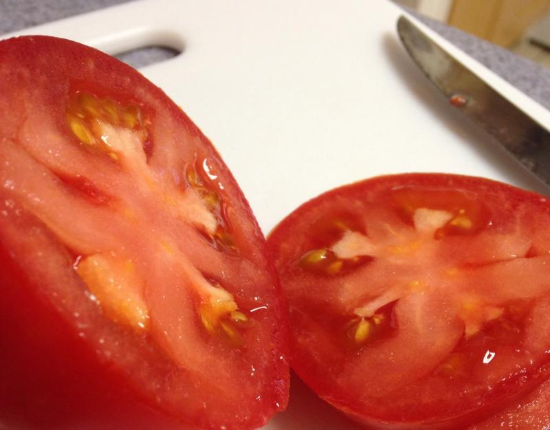 Amber Recker says the tomatoes she purchased from Get Fresh Farms are among the best she's had.