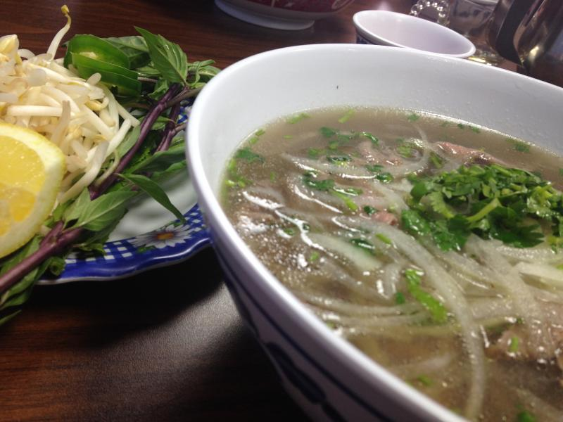 "Pho (pronounced ""fuh"") from Kim Vu in Fort Wayne."