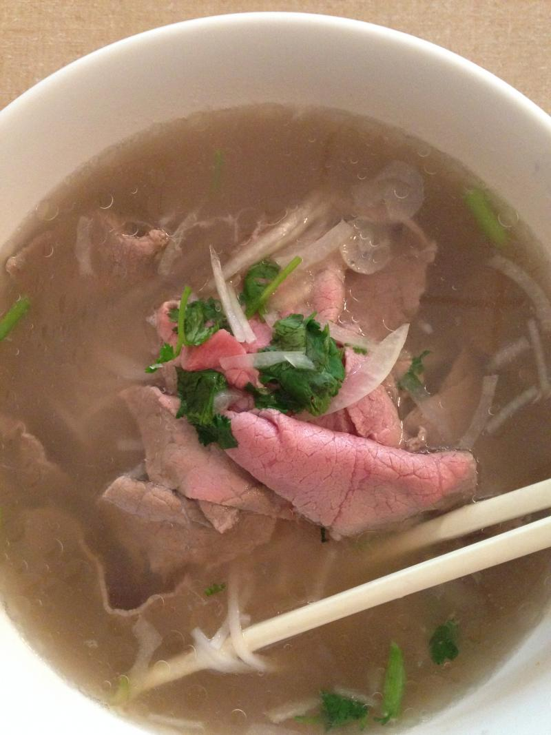 Pho is a popular street food in Vietnam, and the version served at Fort Wayne's Saigon shines.
