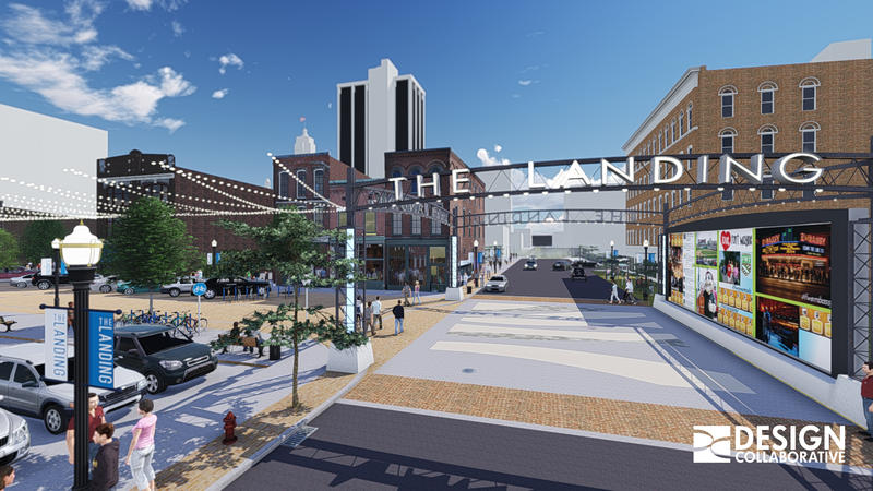 An artist rendering of The Landing on Columbia Street in Downtwon Fort Wayne.
