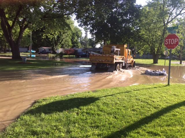 City crews worked through the night to address flooding in the Belle Vista neighborhood of Fort Wayne.